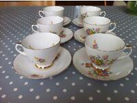 Vintage Mid Century Dorchester Finest Bone China Floral Tea Set