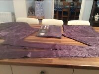 """Mirabel Elton curtains width 46"""" x 54"""" long brand new with four cushion covers and extra material"""