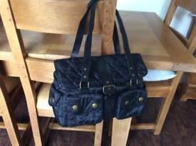 Original, black Barbour bag.
