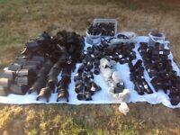 Black guttering connectors and parts 200/300 pieces