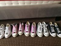 Girls converse trainers for sale size 11-12.5