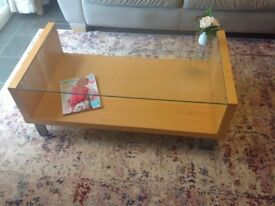Coffee Table (Marks & Spencer) Wood & glass contemporary style