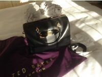 Ted Baker black leather handbag, perfect condition. Worsley, Manchester