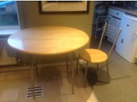 Bright, wooden kitchen table
