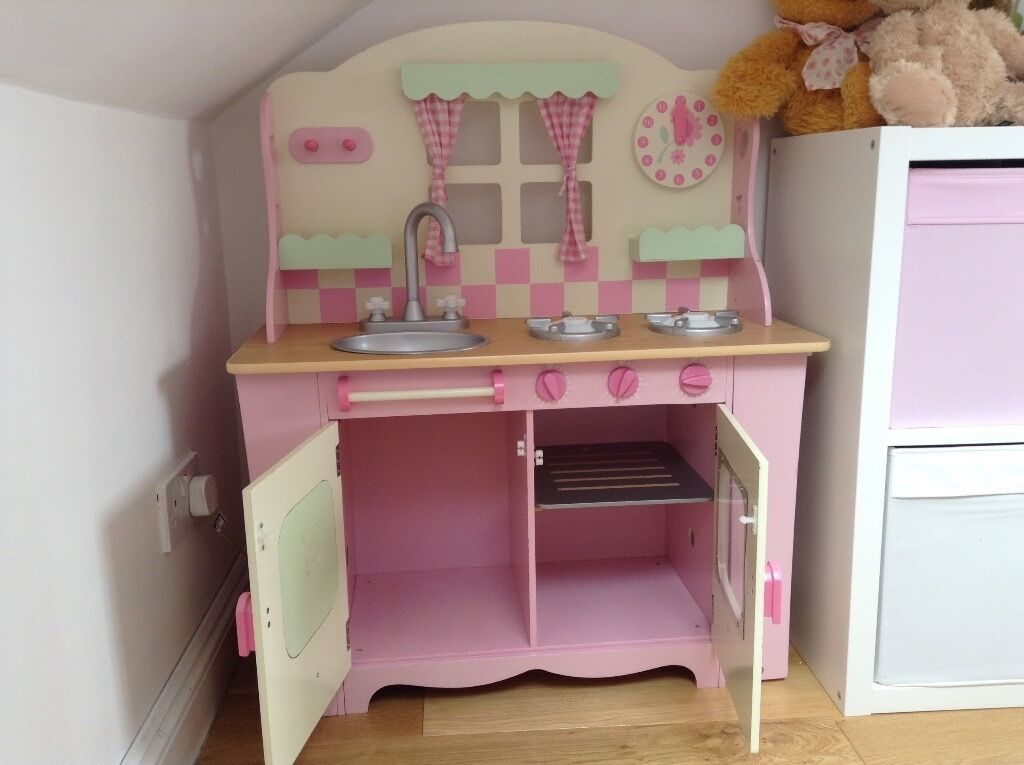 Pink Wooden Children S Play Kitchen Mothercare