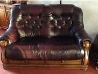 3seater and 2seater leather sofas