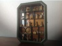Wooden, glass, mirrored display case/cabinet