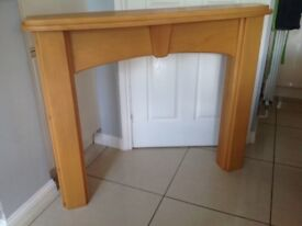 Wooden firplace surround