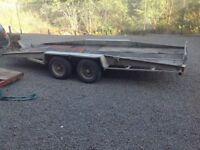 Bateson tilting car trailer. £850