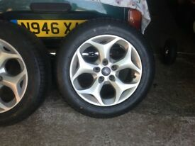Ford alloys wheels and tyres