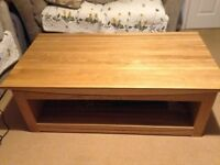 Tokyo Natural Solid Oak Large Coffee Table from Oak Furniture Land