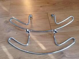 Car seat coat hangers