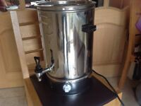 swann 18litre urn plus other small catering items ( large teapots plastic cups etc)