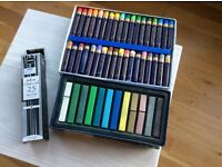 Boldmere oil and soft pastels; willow charcoal