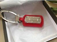 Longchamp shocking pink leather key ring New in original packaging