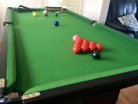6ftx3ft folding snooker table