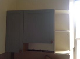 Kitchen /Utility wall cupboards with shelf x 2