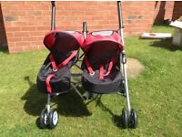 Dolls double buggy Silver Cross