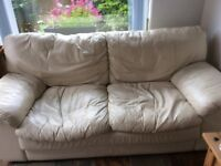 Two and a half seater leather seatee