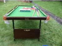 Riley snooker table..slate bed..6 'x3'