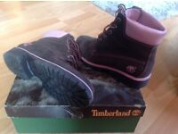 Timberland ladies suede boots size 5