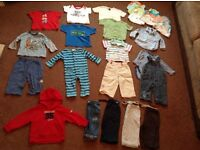 Bundle baby boys clothing Age 9-12 mths next TU Mothercare Disney Blue Zoo incl outfits tops etc