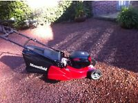 Mountfield Rotary Lawnmower, battery powered ,press button start, rear roller for striped finish