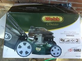 Self propelled motor mower