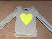 Gap Girl's sequin heart top. Excellent condition, age 12-13
