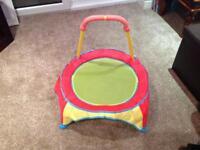Indoor toddler trampoline
