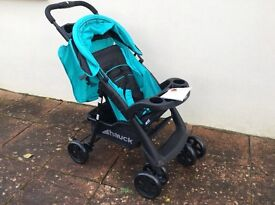 Beautiful new and unused pushchair, Hauck Shopper Comfortfold turquoise and black