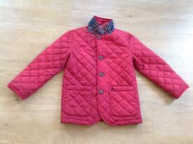 Joules red quilted jacket Size 4 years old
