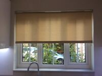 "Roller kitchen blind beige 50"" wide"