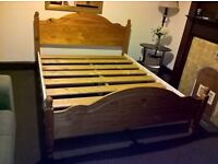 Wooden king size bed excellent condition (Free delivery see description)