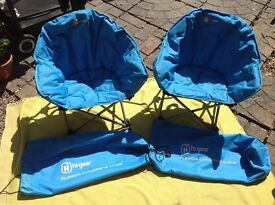 Two Children's Folding Camping Chairs