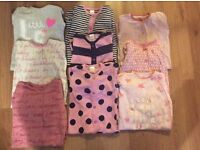 Bundle 3-6 girls next sleepsuits