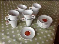 8 Nescafe Dolce Gusto 125ml coffee cups and saucers