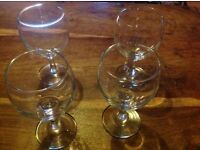 4 Matching Wine Glasses