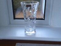 Thomas Webb cut glass vase never used