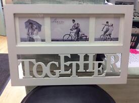 New White TOGETHER frame .