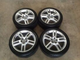 "GENUINE 19"" AUDI A7 QUATTRO S LINE WHEELS AND TYRES(CADDY,LEON,JETTA,TOURAN,GOLF,A5,A6,A4,SE)"