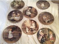 Wedge wood plates yesterday's child all 8 in perfect condition plus 2 Xmas ones .