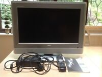 """Toshiba 23"""" digital colour television with freeview, 23WLT56B, remote control and user guide"""
