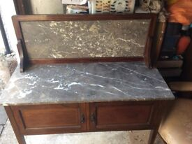 Beautiful Antique Edwardian or Victorian washstand with marble. cupboard / sideboard / table