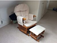 Glider beige nursing chair. Excellent condition. Very comftable as well cushioned.