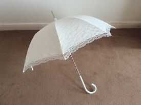 Ivory wedding lace umbrella