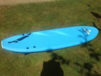 6ft Alder soft surfboard with carry bag
