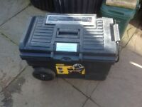 Stanley rolling tool trolley with contents