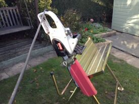 Electric Chainsaw with a Sawhorse bench