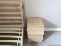 Chest of 2 drawers, bedside cabinets